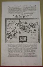 GREEK IONIAN ISLANDS & MESSENIA GREECE 1661 LAUREMBERG ANTIQUE ORIGINAL MAP