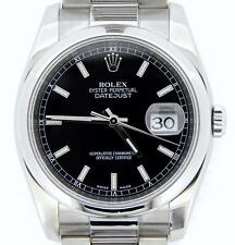 Rolex Datejust Men Stainless Steel Watch Black Dial Oyster Band New Style 116200