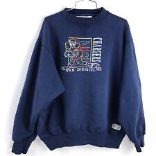 Vintage San Diego Chargers Crewneck Large Sweatshirt 7 Logo Cartoon Pullover Men