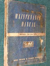 1953 GMC 100-400 TRUCK SHOP MANUAL / ORIGINAL BOOK / PICKUP / PANEL, / CARRY ALL