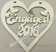 Engaged heart 2016/2017/2018 150mm in 3mm mdf