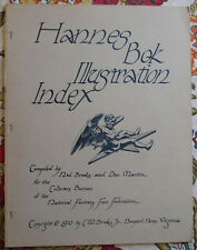 Hannes Bok Illustration Index 1970 Collectors Bureau Nfff + Revised Checklist 74