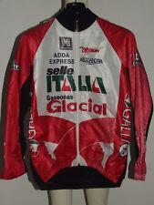 MAGLIA BICI GIACCA JACKET PILE SINTETICO CICLISMO SHIRT TEAM SELLE ITALIA tg. L