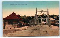 Easton Pennsylvania PA Delaware Bridge Old Town View 1907 Vintage Postcard A9