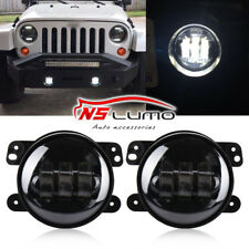 "4"" Inch White Cree Led Fog Lights for Jeep Wrangler JK JKU TJ LJ Dodge 2 pcs"