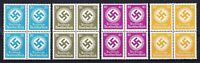 Stamp Germany Official Mi D140-3 Sc O88,91 Block Selection WMK Party Era War MNH