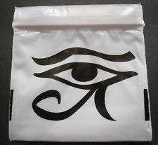 100 Black Eye of Horus 2x2 Small White Poly Bags 2020 Tiny Ziplock Dime Baggies