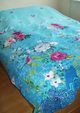 """Shabby Chic """"Catherine Lansfield""""  BLUE- MULTI DOUBLE DUVET COVER & PILLOW CASES"""