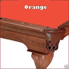 7' Orange ProLine Classic TEFLON Billiard Pool Table Cloth Felt - SHIPS FAST!