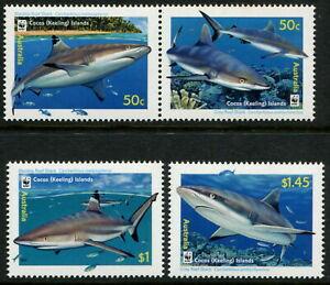 COCOS (KEELING) ISLANDS - 2005 WWF 'REEF SHARKS' Set of 4 MNH SG406-09 [C2862]