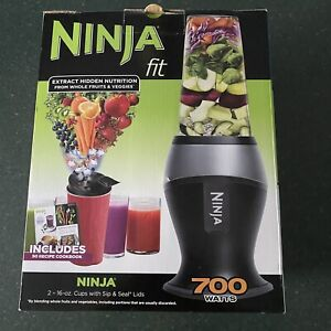 Ninja QB3000SS Fit 700 Watt Blender Unit with Pulse Technology 2 16-Oz. Cups Lid