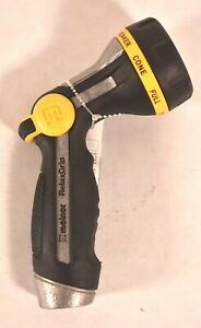 Melnor RelaxGrip Metal 8 Pattern Nozzle Hose Attachment Sprayer Black Relax