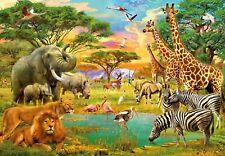 366x254cm Foto Wallpaper Mural De Pared Safari Animales Salvajes Decoración childrens room