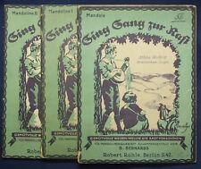 "Sing Sang zur Rast ""Mandola"" 3 Hefte um 1930 Kunst Kultur Musik Liederbuch sf"