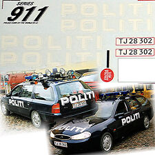 Ford Mondeo Politi Accident unit Helsinore Denmark 1999 Polizei 1:43 Decal Abzie