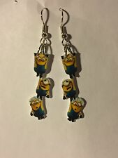 Despicable Me Minion Earrings Hanging Around friends Charms