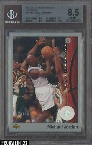 2002-03 Upper Deck UD Authentics Rainbow Michael Jordan Wizards HOF /50 BGS 8.5