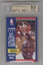 BGS 9.5 MICHAEL JORDAN GEM MINT 1991-92 Fleer #211 All-Stars Chicago Bulls HOF