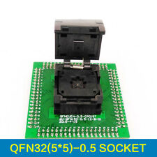 QFN32 MLF32 IC Test Adapter Pitch 0.5mm Chip Size 5*5 Flash Socket Programmer