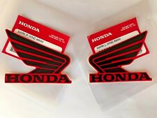 Honda Wing Fuel Tank Decal Wings Sticker 2 x 80mm BLACK & RED 100% GENUINE