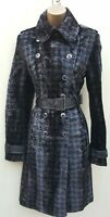 Size 12 UK Stunning KAREN MILLEN Signature Herringbone Faux Pony Trench Coat