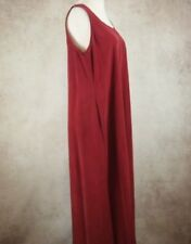 Monsoon Burgundy Red Pure 100% Silk Long Dress Size 16