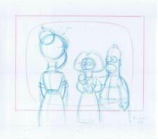 Simpsons Homer 2 Original Art Animation Production Pencils Rough Comps 1