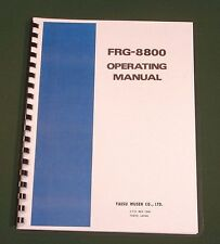 Yaesu FRG-8800 Instruction Manual - Premium Card Stock Covers & 28lb Paper!