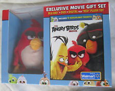 The ANGRY BIRDS GIFT SET Blu-Ray + DIGITAL + RED PLUSH Toy NEW Sealed