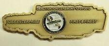 USS Enterprise (CVN-65) Deactivation Ceremony 12-01-2012 Navy Challenge Coin