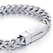 Bracciali da uomo cordoncini di argento in acciaio