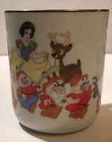 Walt Disney Coffee Mug Tea Cup Snow White and the Seven Dwarfs Japan Gold Rim