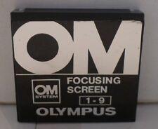 Vintage Olympus OM System Focusing Screen 1-9 +Original Hard Case