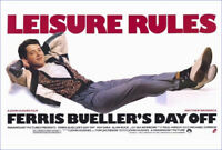 "FERRIS BUELLER'S DAY OFF - MOVIE POSTER - LEISURE RULES - 91 x 61 cm 36"" x 24"""