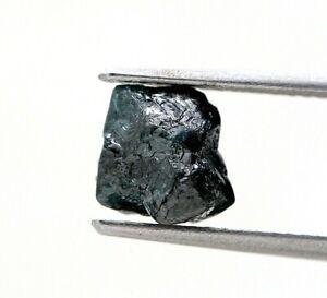 Big Raw Diamond 2.11Ct Grayish Blue Sparkling Natural Antique Polygon Shape Gift