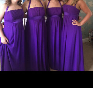 Alfred Angelo Purple Bridesmaid Dress - Size 14