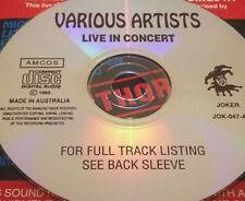 Various Artists Live In Concert CD Madonna Prince Sting Billy Joel Elton John