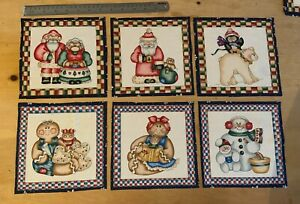 Christmas Characters Fabric Squares Quilting