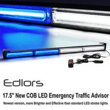 White Blue LED COB Emergency Warning Traffic Advisor Strobe Light Bar US
