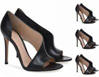 Womens Fashion Peep Toe High Heel Sandals Bridal Wedding Shoes Slip On Party
