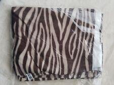 Animal Print California King Bed Skirt New brown & cream