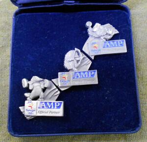 #D226.  THREE(3)  BOXED  AMP SYDNEY 2000 OLYMPIC  PINS