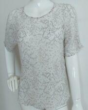 HOBBS chiffon silk blouse with camisole size 14 --BRAND NEW-- 100%Silk white