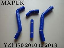 YZF450 2010 BLUE RADIATOR HOSES MXPUK SILICONE HOSE 10 YZF 450 YZ450F (503)