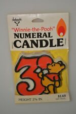 VINTAGE NOS WINNIE THE POOH 3RD BIRTHDAY CANDLE NUMERAL 3 AMBASSADOR CAKE TOPPER