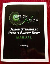ROB ROY Option AxiomStrangle Axiom Strangle Book Manual Profit Sweet Spot New