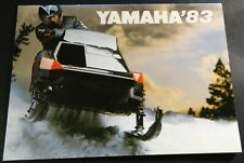 """1983 YAMAHA SNOWMOBILE SALES BROCHURE 28 PAGES ABOUT 5"""" X 7"""" (398)"""