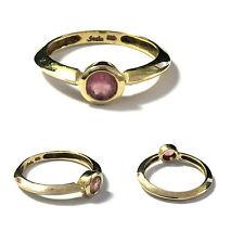 Moderner eleganter Beryllring 375 er Gold Gelbgold Ring rosa Beryll Gr. 66