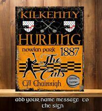 PERSONALISED KILKENNY GAA HURLING GAELIC SPORT VINTAGE Metal Sign RS376