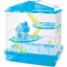 Hamster Cage Three-story + Loft House Blue 4967576252751 HSCG-412C Plastic